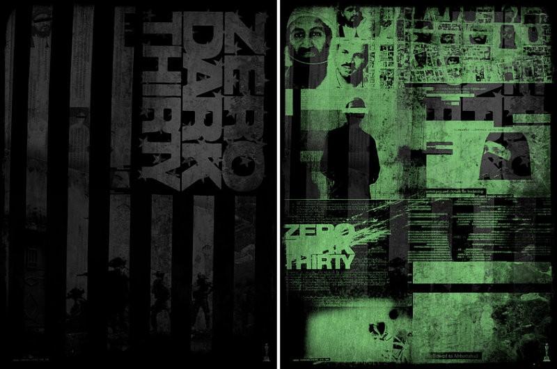 2013 oscars posters zero dark thirty