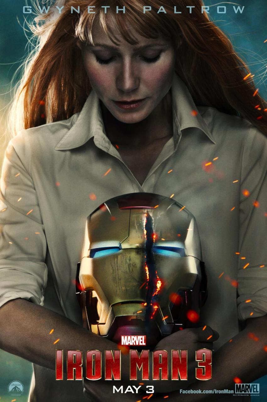 iron man3 potts poster