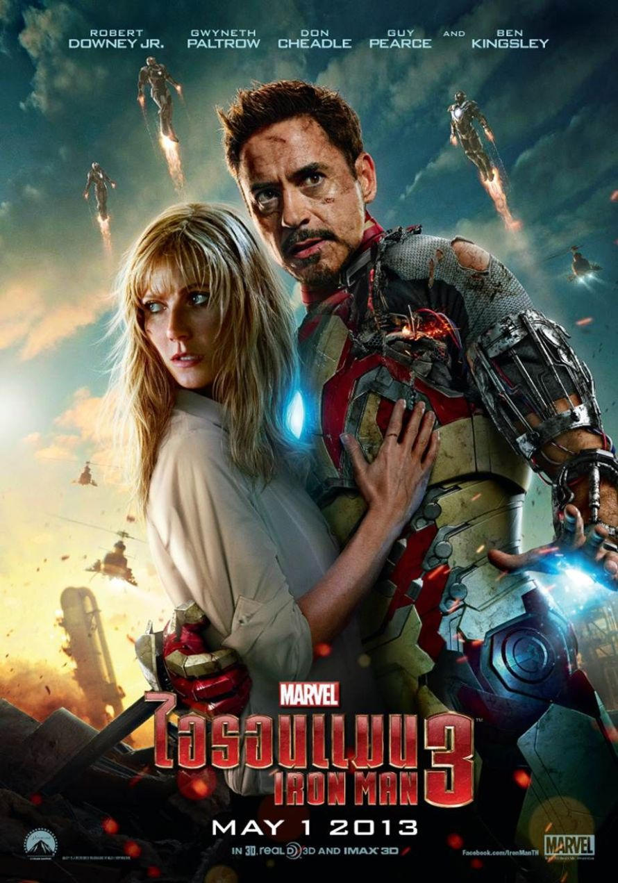 iron man 3 stark potts poster