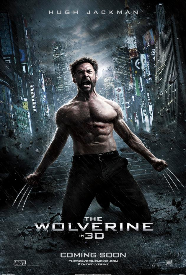 the wolverine in rain poster
