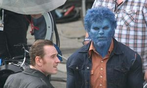 x-men days of future past beast magneto set pic