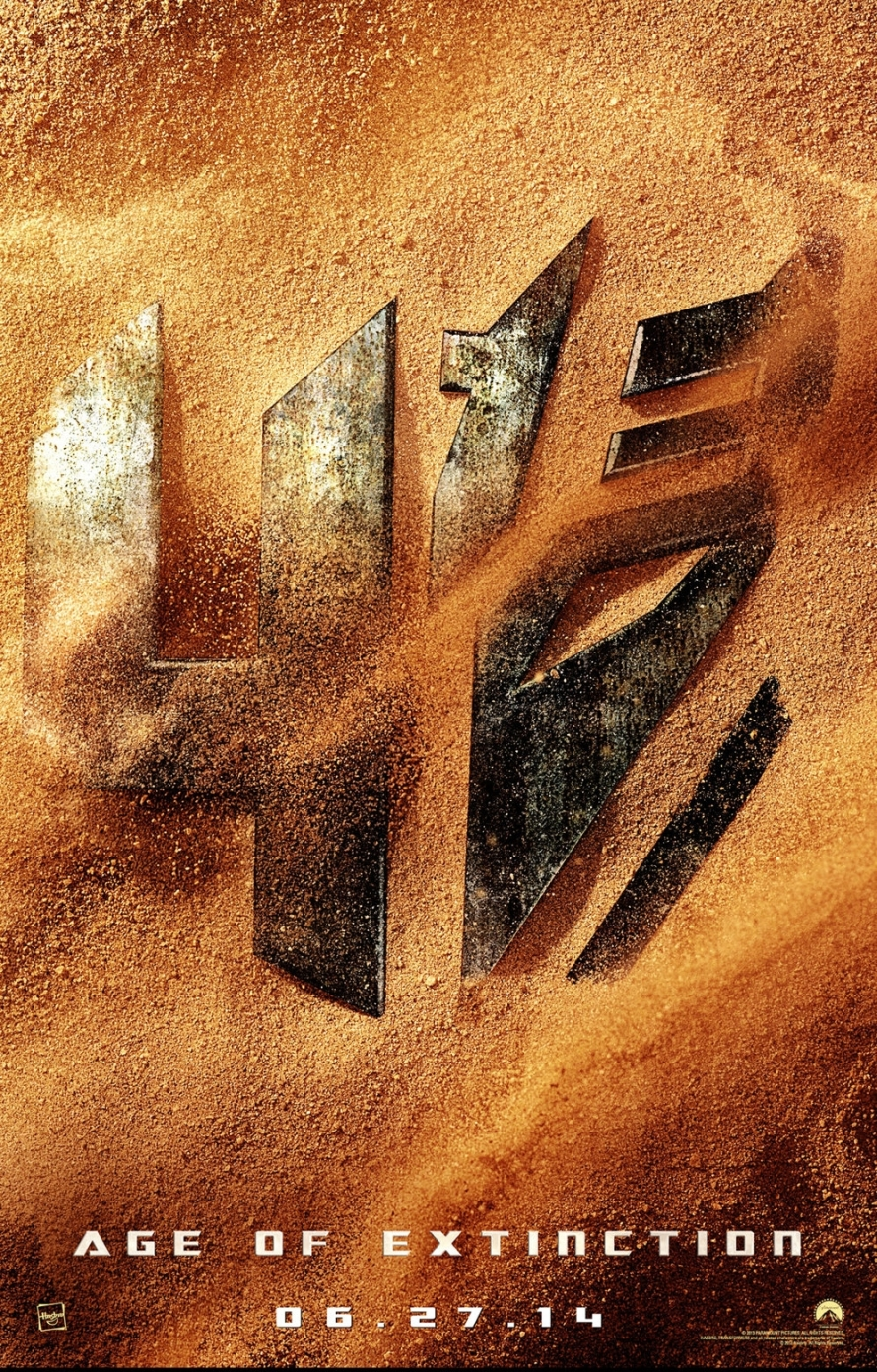 transformers age of extinction teaserposter