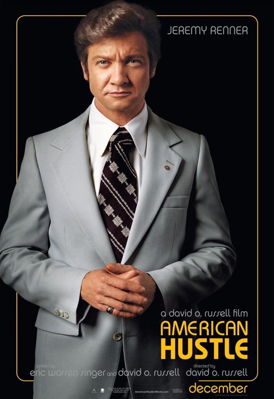 american hustle jeremy renner poster
