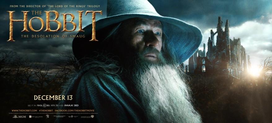 The Hobbit Desolation of Smaug gandalf banner big