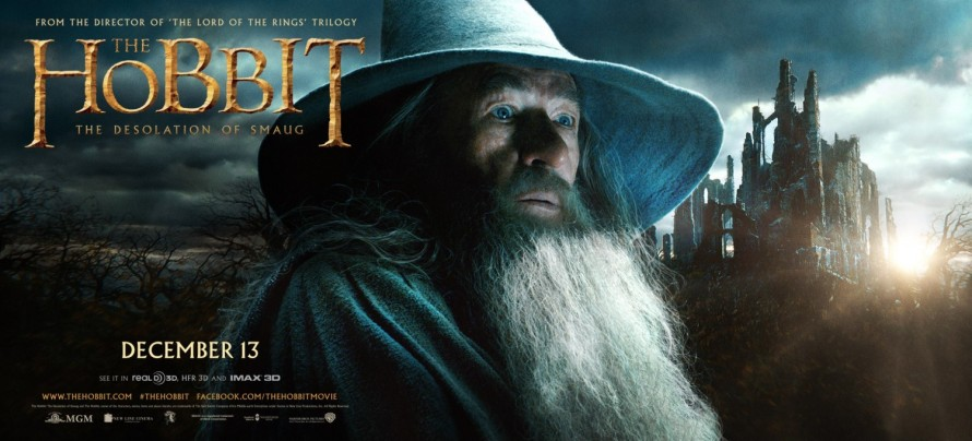 The Hobbit Desolation of Smaug gandalf banner big