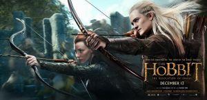The Hobbit Desolation of Smaug Tauriel & Legolas banner