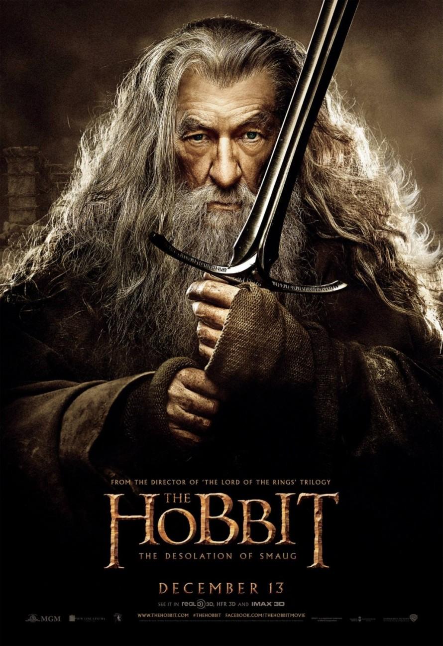 the hobbit 2 gandalf poster