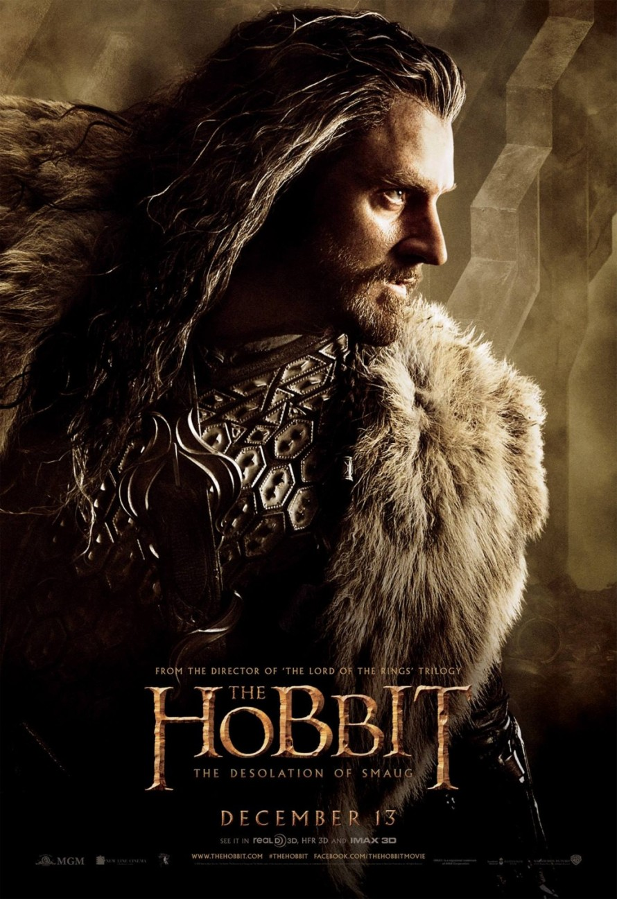 the hobbit 2 thorin poster