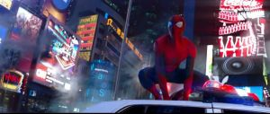 the amazing spider-man 2 times square trailer