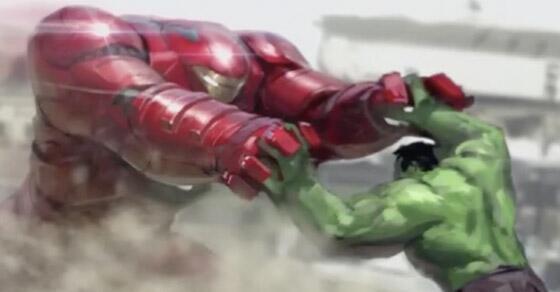 avengers age of ultron iron man hulk concept art