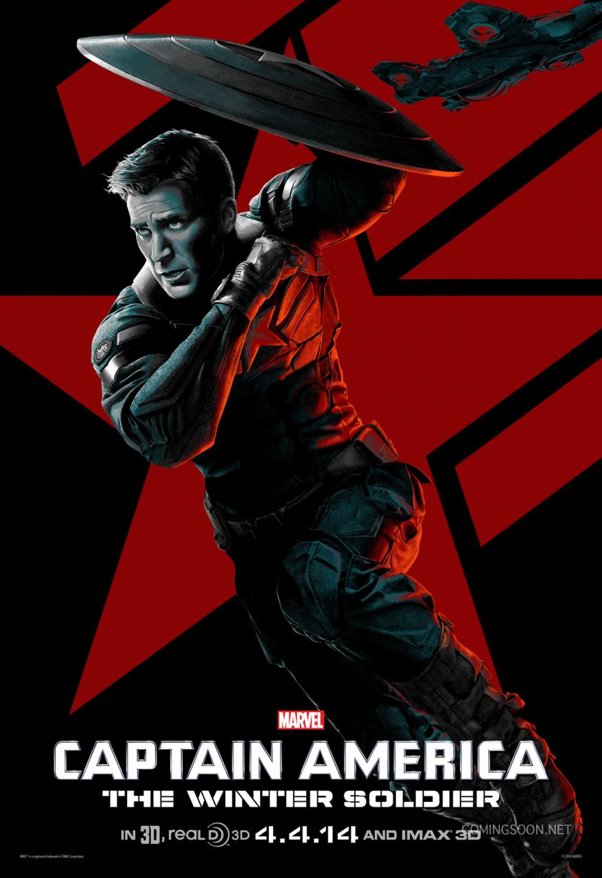 Captain America The Winter Soldier stylized poster 01