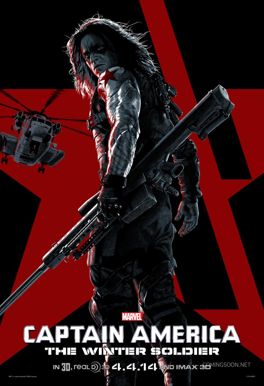 Captain America The Winter Soldier stylized poster 04