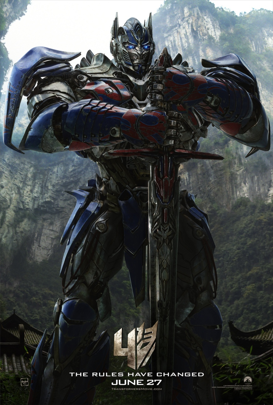 transformers age of extinction optimus prime poster