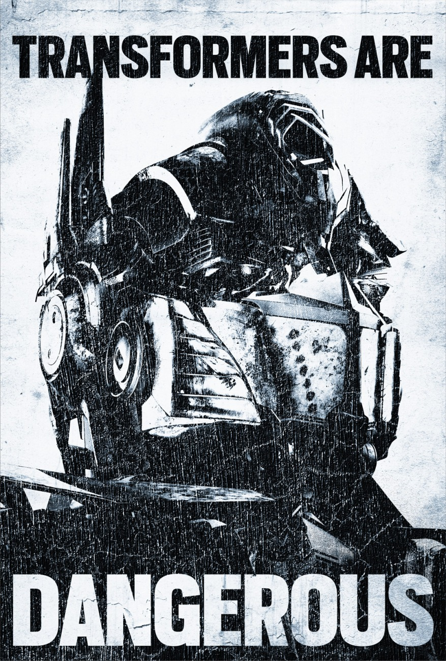 transformers danger poster