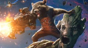 groot rocket raccoon gotg poster