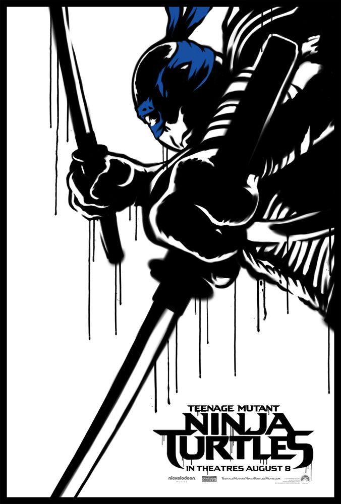 Teenage Mutant Ninja Turtle Street Art Poster Leonardo