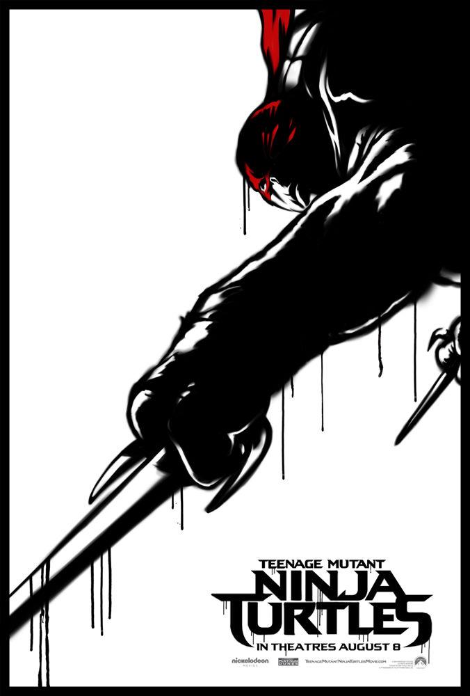 Teenage Mutant Ninja Turtle Street Art Poster Raphael
