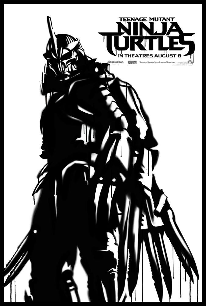 Teenage Mutant Ninja Turtle Street Art Poster Shredder