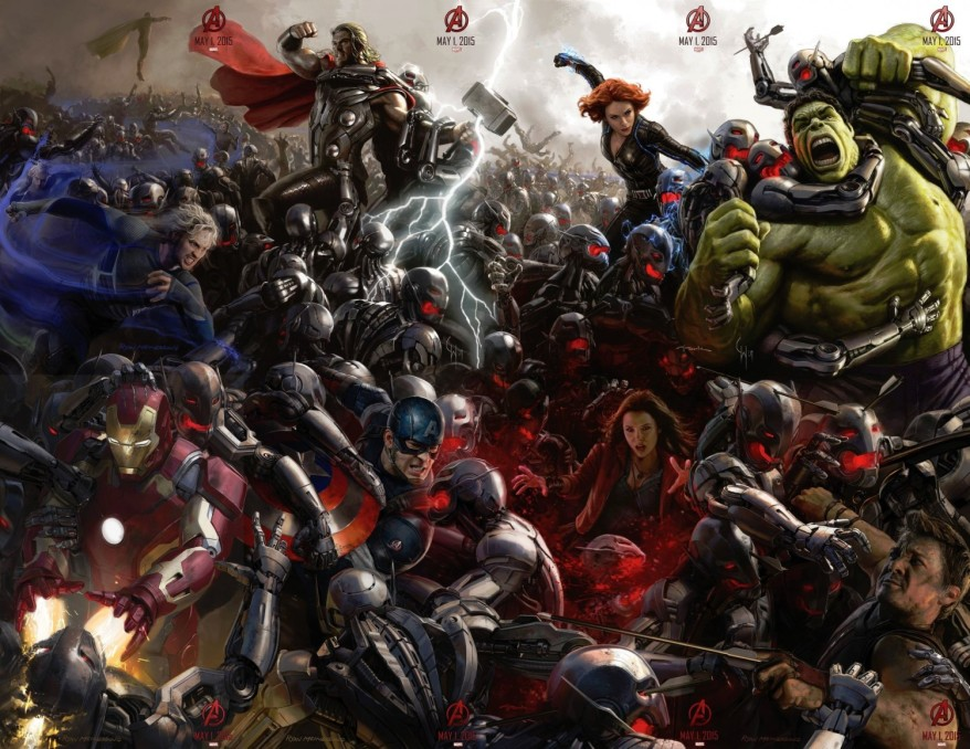 avengers age of ultron comiccon full poster big