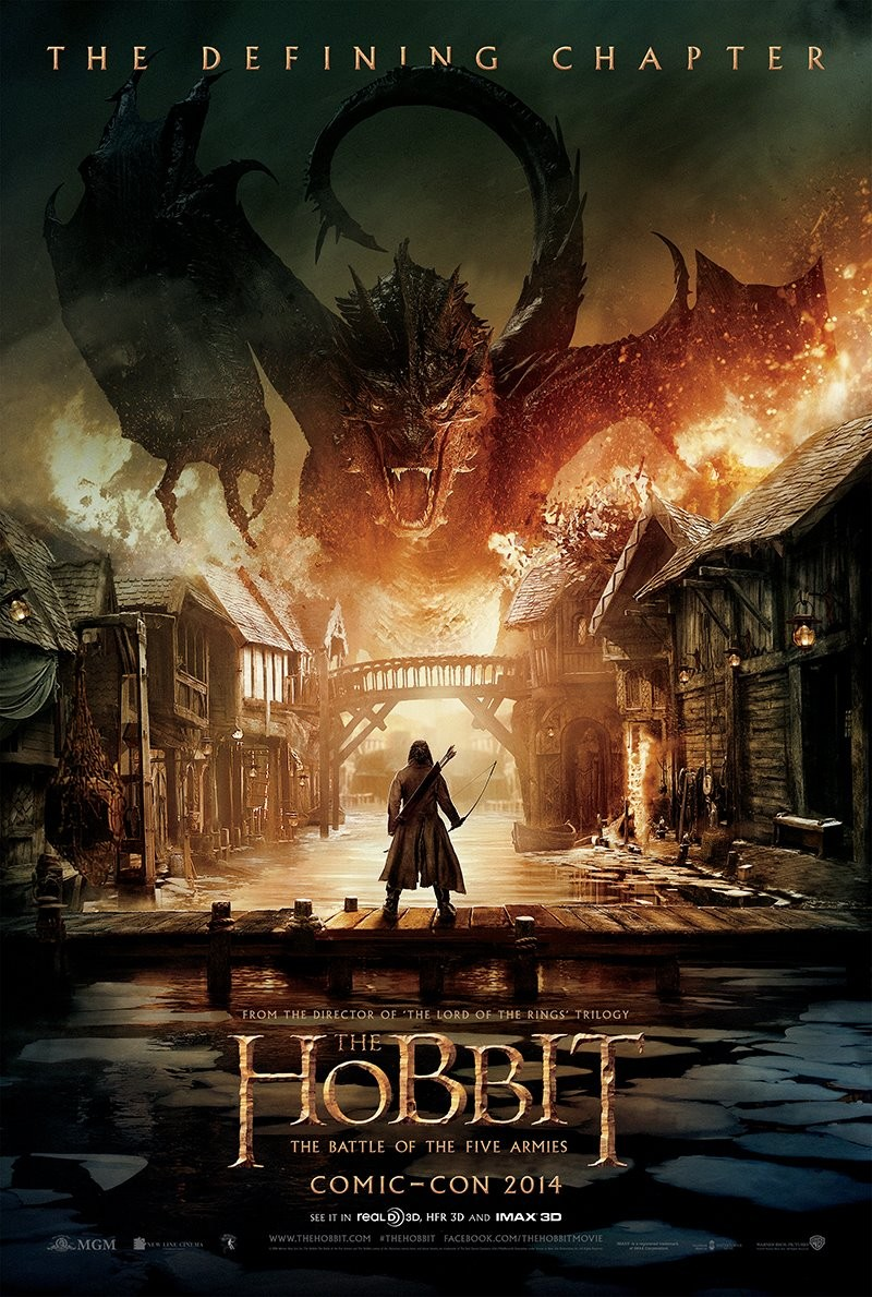 The Hobbit The Battle of the Five Armies comiccon poster big