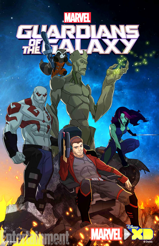 guardians of the galaxy anime key art