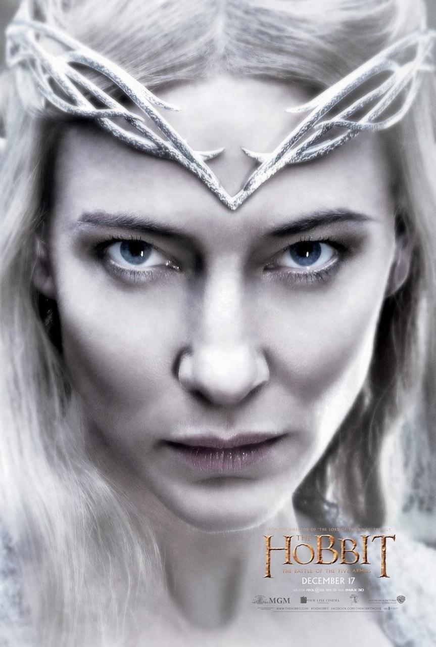 hobbit 3 galadriel poster