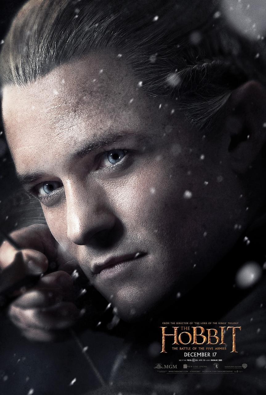 hobbit 3 legolas poster
