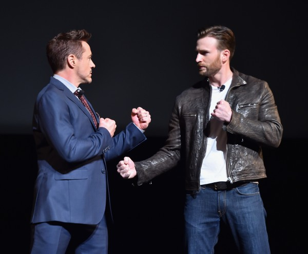 marvel event rdj and evans