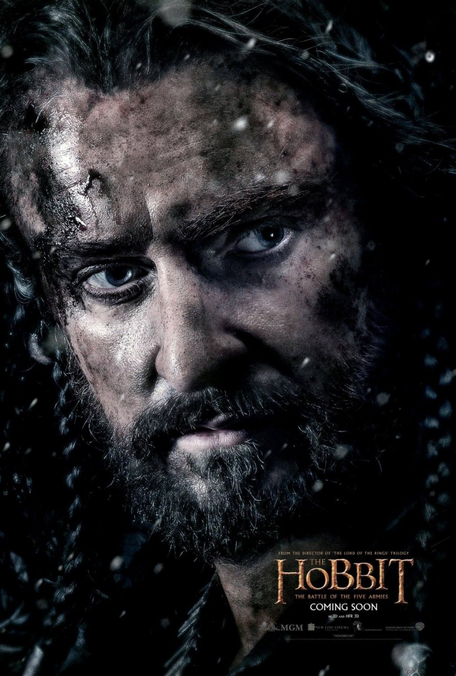 the hobbit 3 Thorin poster