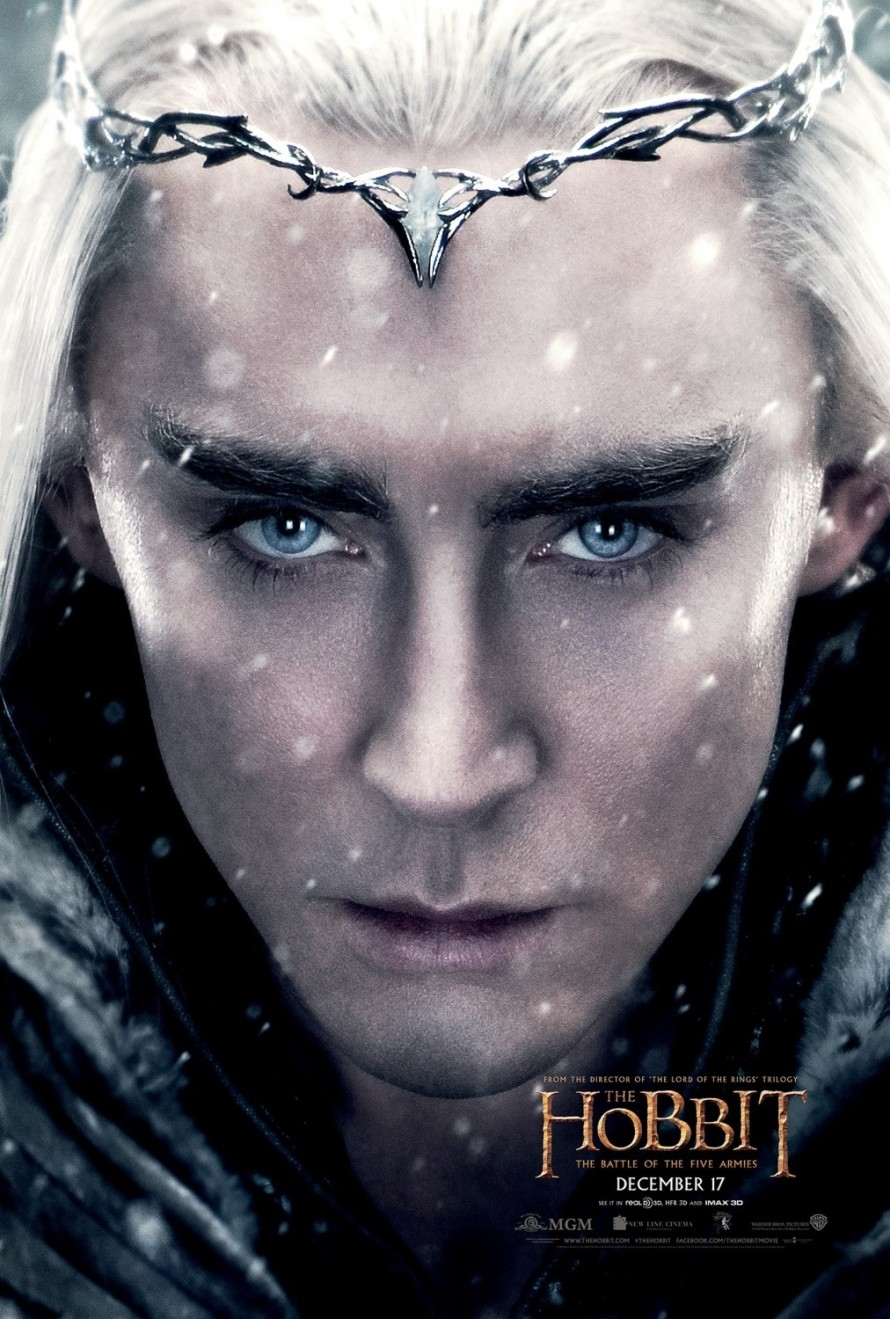 the hobbit 3 Thranduil poster