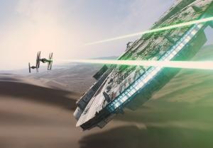 star wars the force awakens millennium falcon imax