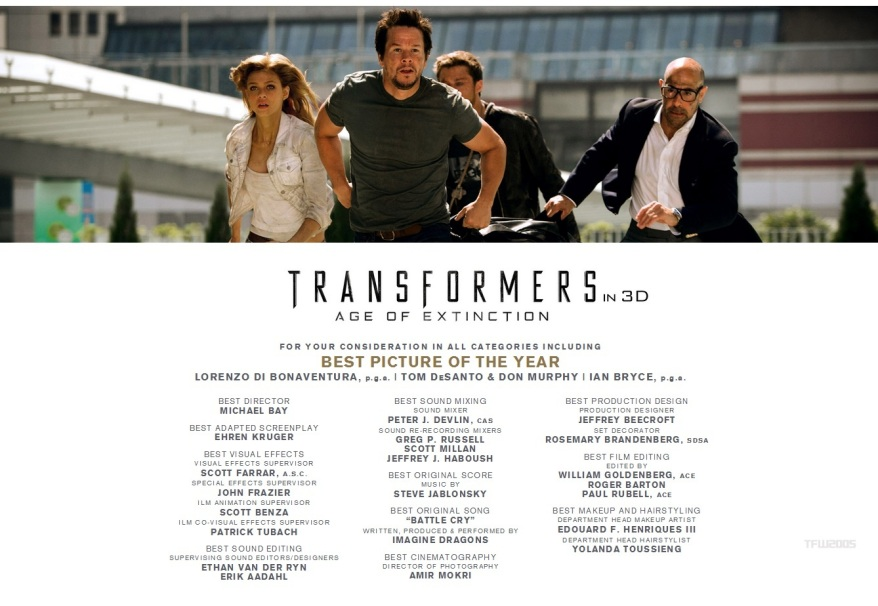 Transformers 4 for your consideration