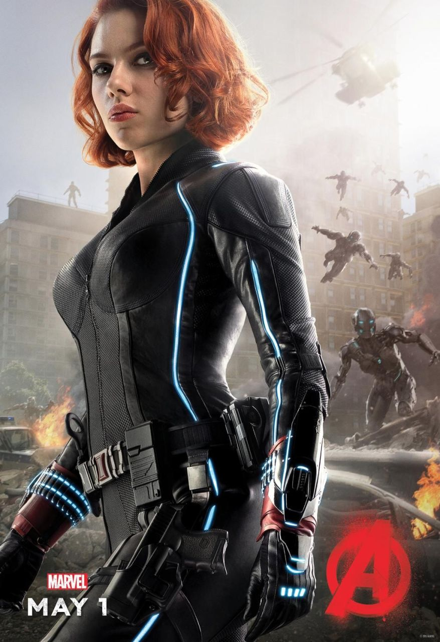 avengers age of ultron black widow poster