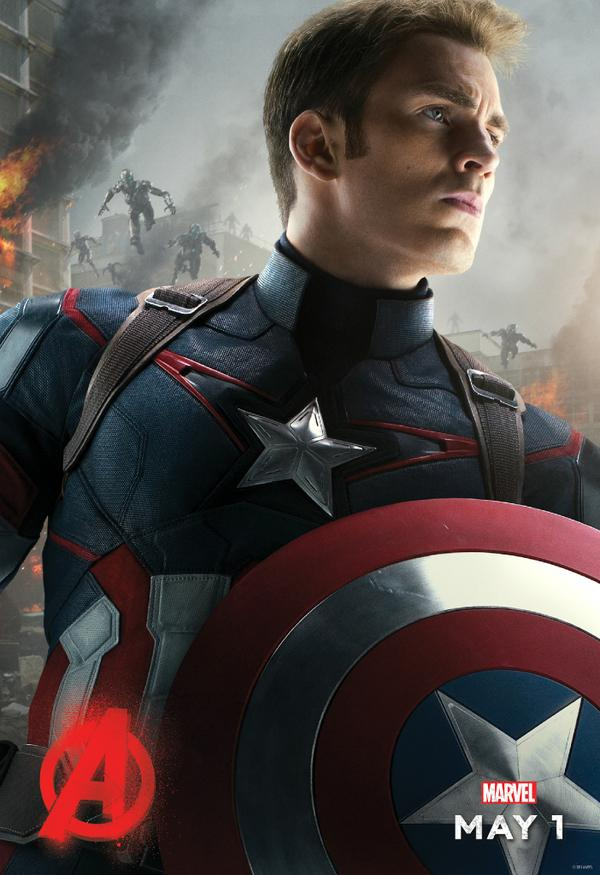 age of ultron cap poster