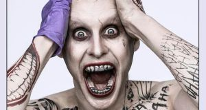 first look at jared leto as joker from suicide squad header