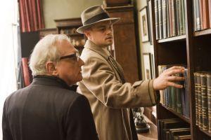 Director Martin Scorsese (left) and Leonardo DiCaprio (right) on the set of the thriller ?Shutter Island.?
