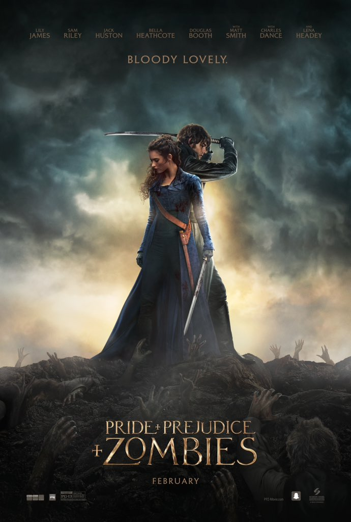 pride and prejudice and zombie final poster