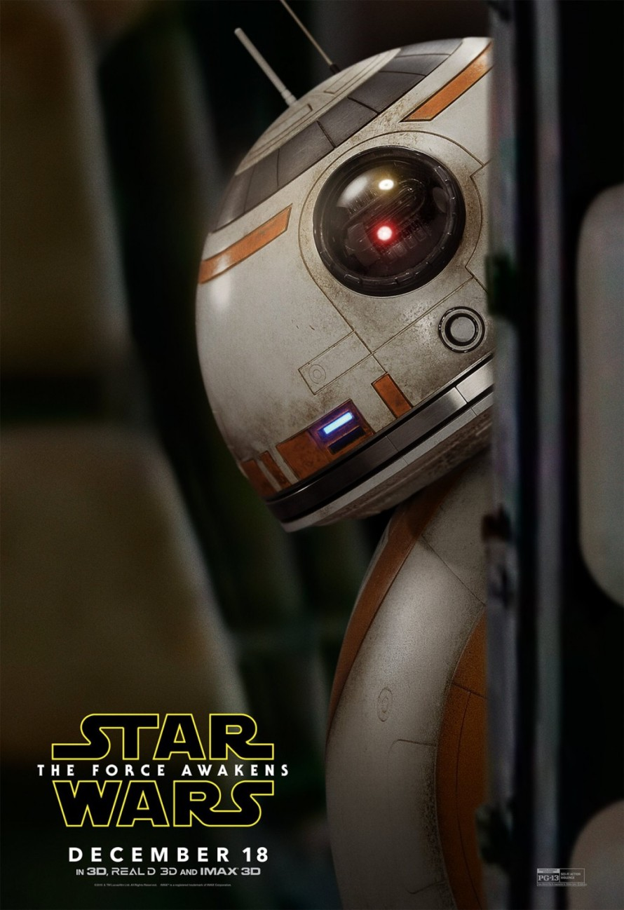 the force awakens bb8 poster