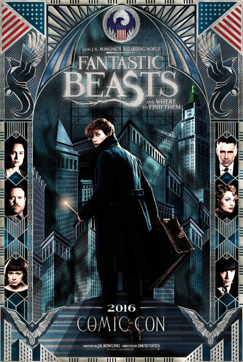 fantastic beast comic con poster