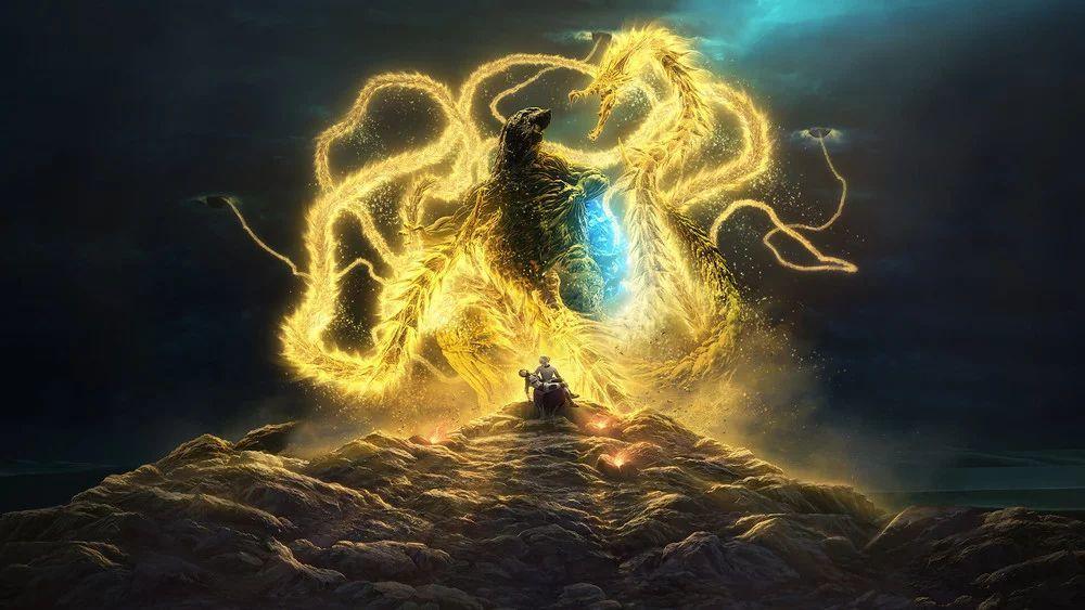 ก็อตซิลลาปะทะคิงกิโดรา ในตัวอย่างแรกของ Godzilla: The Planet Eater ...